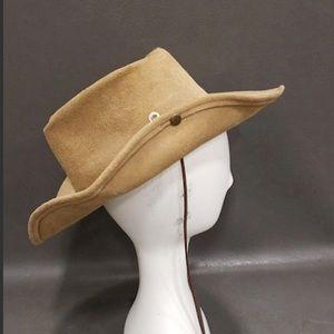 Minnetonka distressed suede hat
